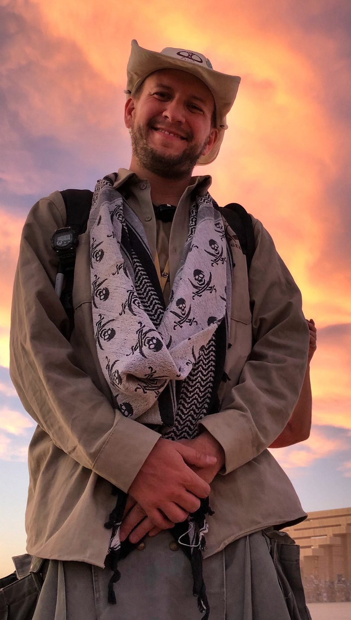 In 2019, Nick became Black Rock Ranger Saint Nick. Rangering allows him to combine so many of his favorite activities: participating with interactive art, meeting interesting global travelers, community development, event operations, and gifting selfless service.